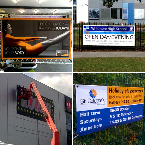sign maker - examples of vinyl banners