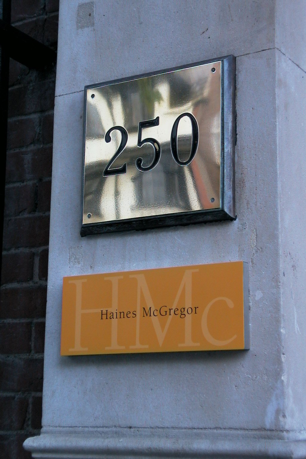 Chrome Finish Door Number Sign Haines Action Signs