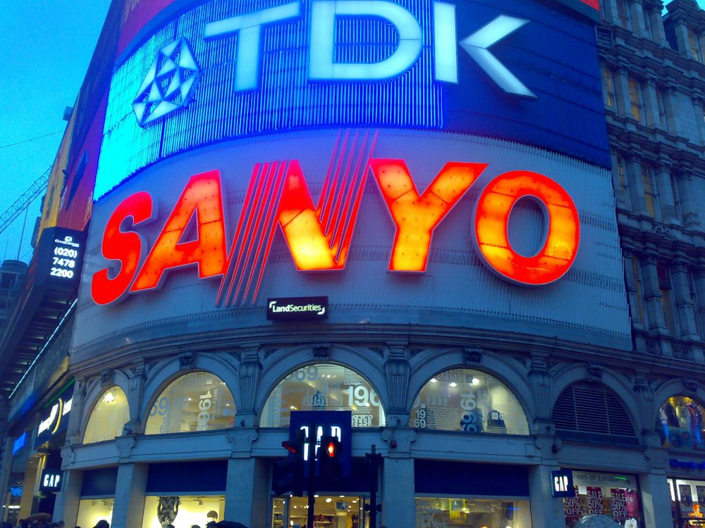 The most iconic signs of London? Action Signs maintained the neon Sanyo sign during its tenure in Piccadilly Circus!